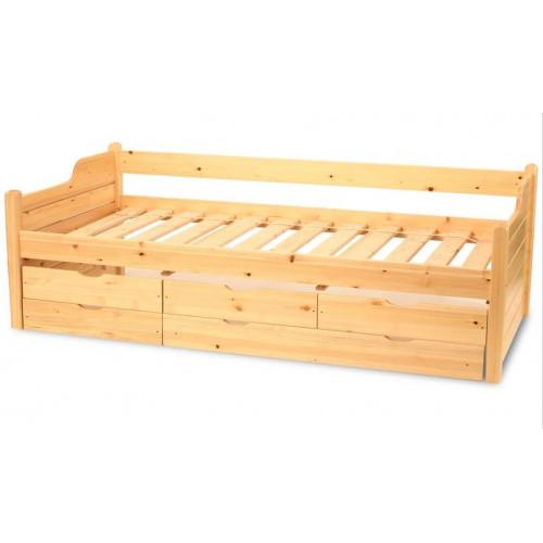 5 fiókos fenyő ágy