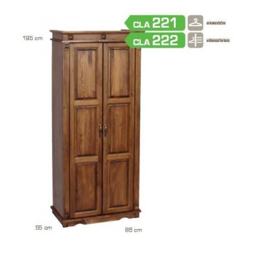 Fenyő szekrény pácolt ( 2 ajtó) CLA222